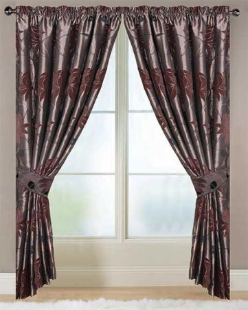A pair of ghastly,awful,hideous brown and silver curtains