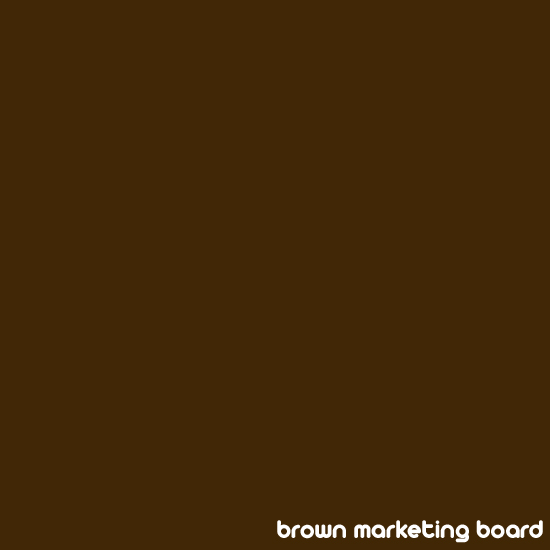 A brown colour swatch poster by the Brown Marketing Board