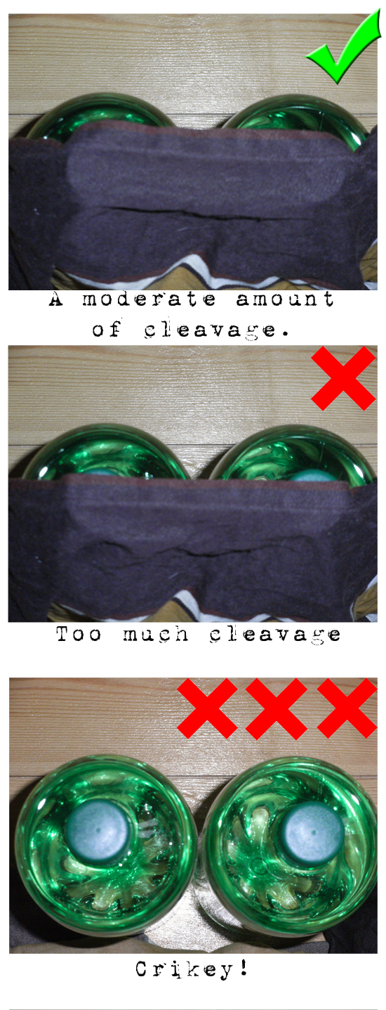 A pictorial guide to the correct amount of cleavage to display