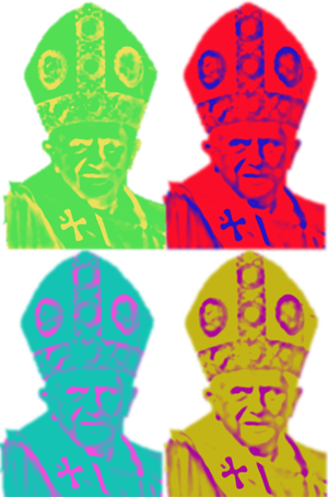 The pope as a warhol - warholian - Marilyn Monroe style image