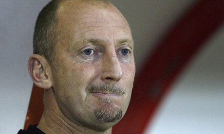 A close up of a pensive Ian Holloway, the English Premier League's newest manager