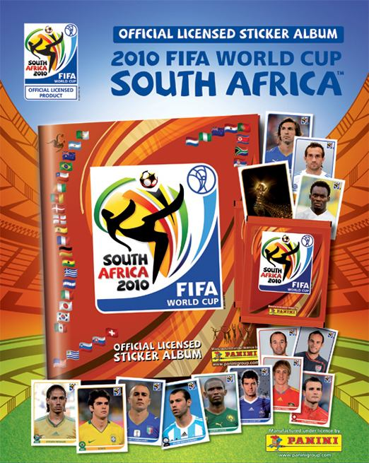 The 2010 Football World Cup Panini sticker album (South Africa, soccer)