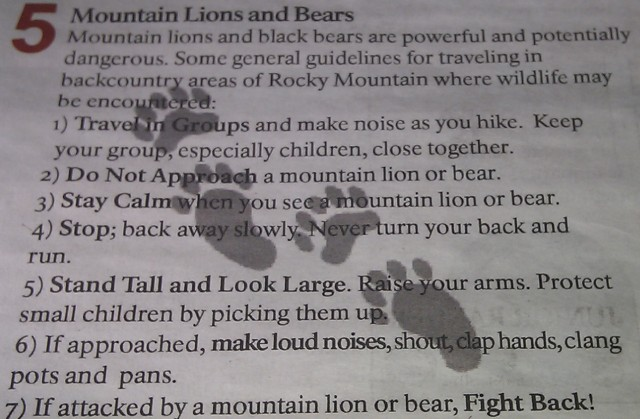 A picture of an article from the Rocky Mountain National Park Newspaper