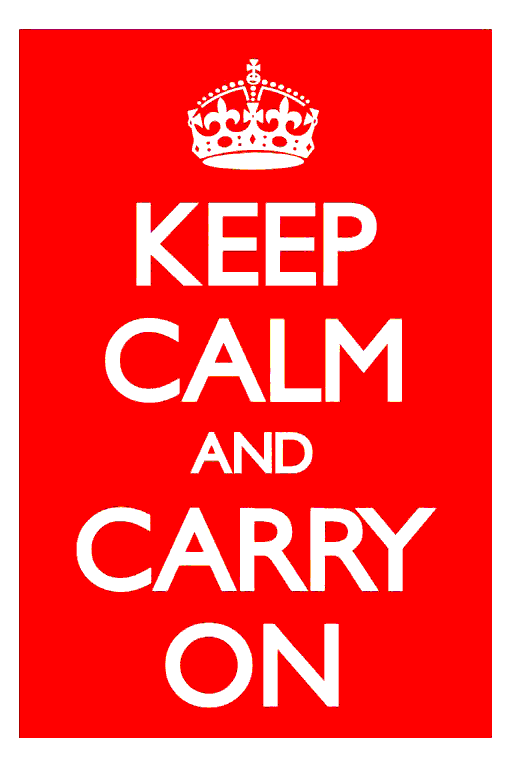 The Keep Calm And Carry On World War 2 (WWII) (Two) (second world war) British propaganda poster in red