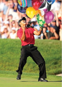 Tiger Woods' New Putter Celebration