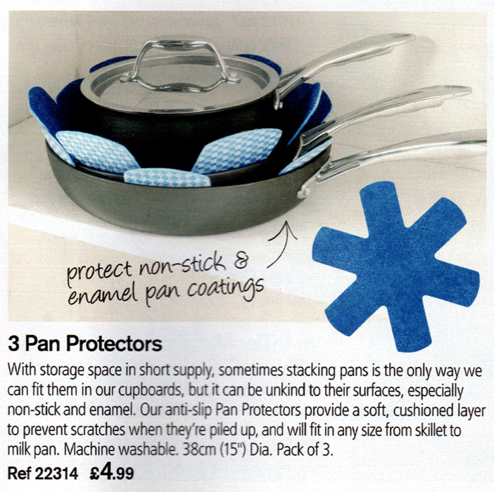 The pan protectors from the Lakeland Summer 2010 catalogue