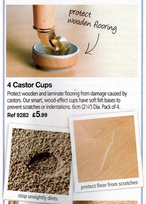the castor cups from the Lakeland Summer  2010 catalogue
