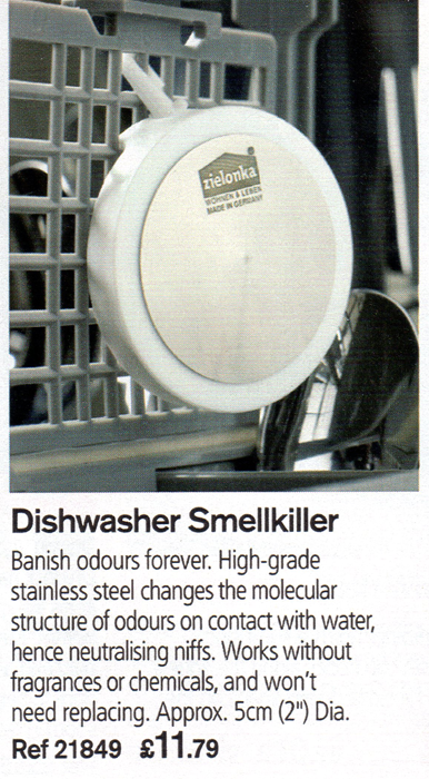 The dishwasher Smellkiller from the Lakeland 2010 summer catalogue