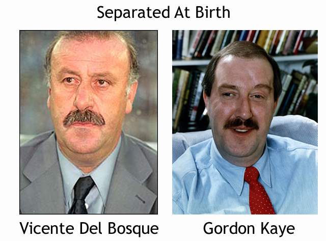 Gordon Kaye and Vicente Del Bosque look alike
