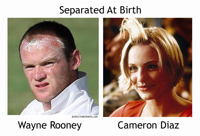 Wayne Rooney and Cameron Diaz look alike