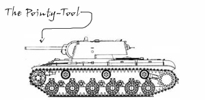 Side-on diagram of a tank.