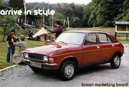 A poster advertising the Austin Allegro by the Brown Marketing Board.