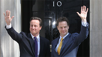 David Cameron & Nick Clegg Downing Street