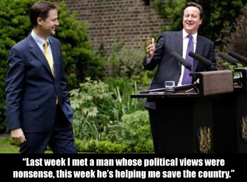 Cameron & Clegg in the garden