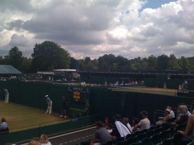 Rain Clouds At Wimbledon