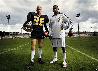 David Beckham Tries Out NFL