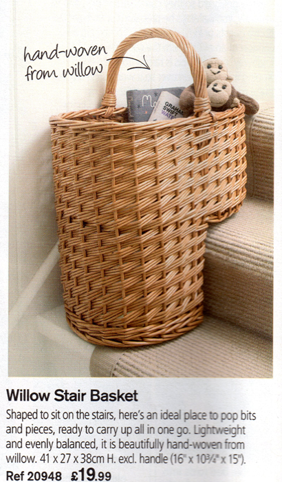 The incredible stair basket from Lakeland's Summer 2010 catalogue