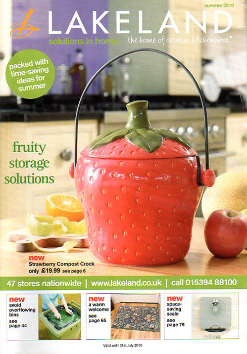 the cover of the summer 2010 Lakeland catalogue, featuring a strawberry composter