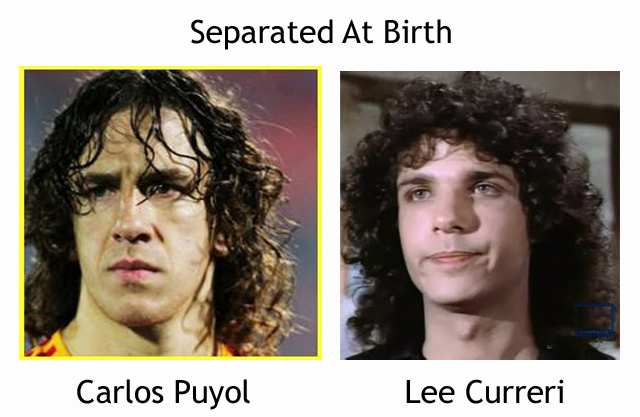Carlos Puyol and Lee Curreri Look Alike